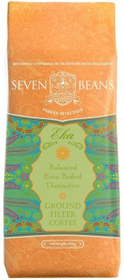 Seven Beans Eka Ground Filter Coffee 250 g(Pack of 1 Plain Flavored)