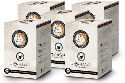 Bonhomia Black Veil Intensity 9 Filter Coffee 50 Sachets(Pack of 5 Unflavoured Flavored)