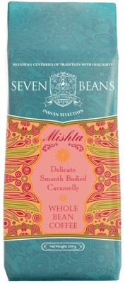 Seven Beans Mishta Whole bean Instant Coffee 250 g(Pack of 1 Plain Flavored)