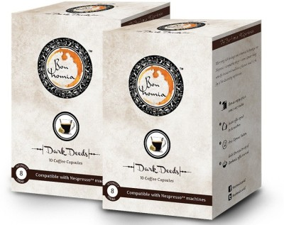 Bonhomia Dark Deeds Intensity 8 Filter Coffee 20 Sachets(Pack of 2 Unflavoured Flavored)