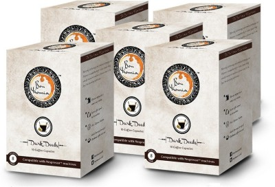 Bonhomia Dark Deeds Intensity 8 Filter Coffee 50 Sachets(Pack of 5 Unflavoured Flavored)