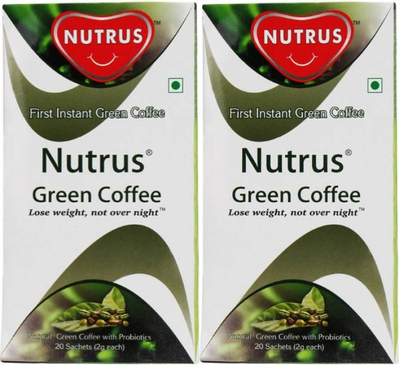 Nutrus Green (Pack of 2) Instant Coffee 40 g Box(Pack of 2 Green Coffee Flavoured)