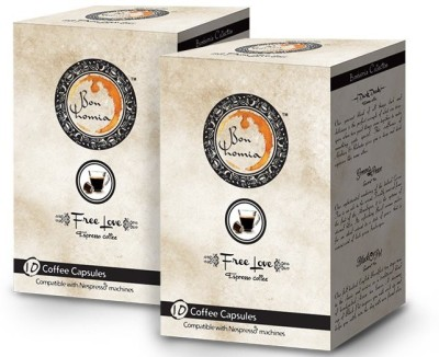 Bonhomia Free Love Intensity 5 Filter Coffee 20 Sachets(Pack of 2 Unflavoured Flavored)