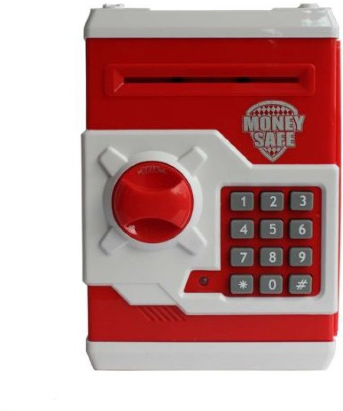 Toyzstation Money Safe And Note Coin Bank(Red)