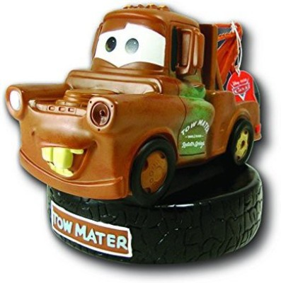 Peachtree Playthings Disney Pixar Cars Plastic Bank Tow Matter Coin Bank(Brown)
