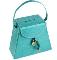 Ecoleatherette Handcrafted Coin Bank(Green)