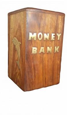 Desi Karigar brass dolphin Coin Bank