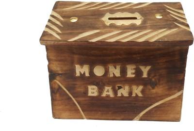 HANDICRAFT ANTIQUE LOOK HUT SHAPE Coin Bank