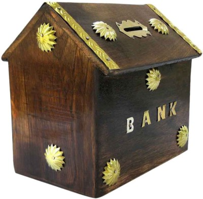 Mayur enterprises Piggy Bank antique hut Coin Bank