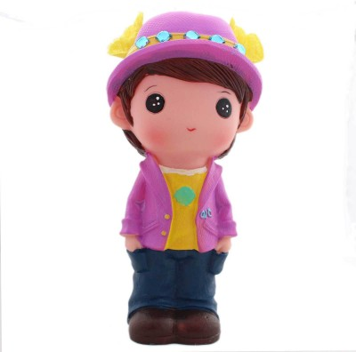 Tootpado Cute Doll Boy With Hat 1j218 Toy Piggy Kiddy Money Coin Bank(Purple)