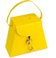 Ecoleatherette Handcrafted Coin Bank(Yellow)