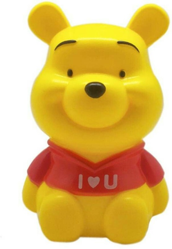 SR Gifts Teddy Bear Coin Bank(Yellow, Red)