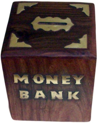 Desi Karigar square Coin Bank