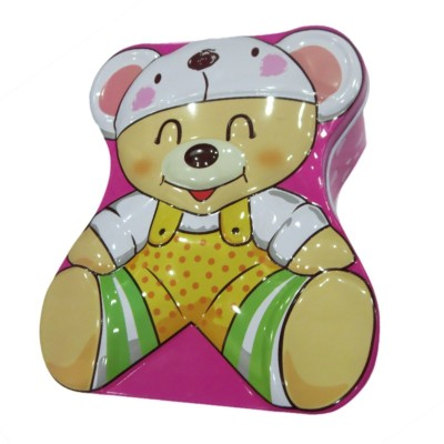 DCS Kids Teddy Bear Metal Coin Bank