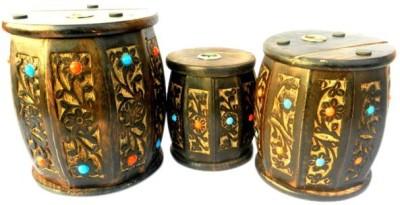 Desi Karigar three drums Coin Bank