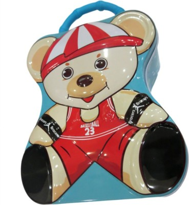 DCS Metal Bear Coin Box with Lock and Key Coin Bank