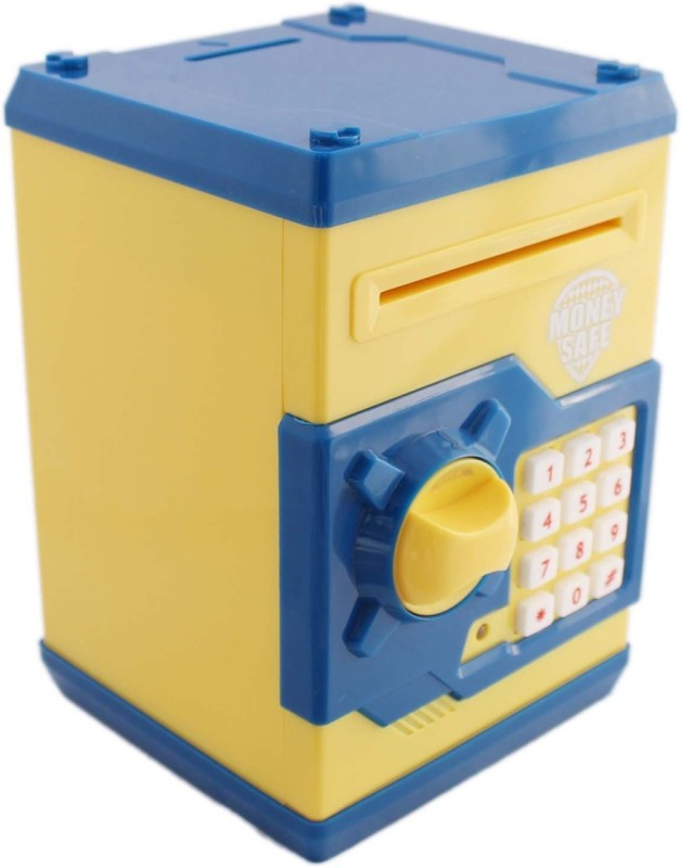 Toyzstation Money Safe And Note Coin Bank(Blue, Yellow)