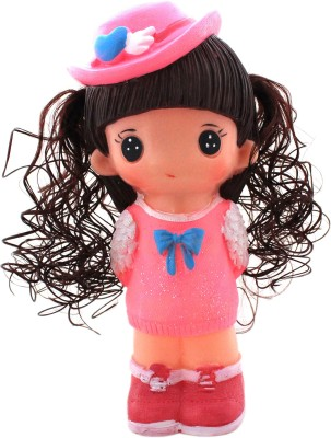 Tootpado Cute Doll With Hat (Pink) - 1j269 - Toy Piggy Kiddy Money Coin Bank