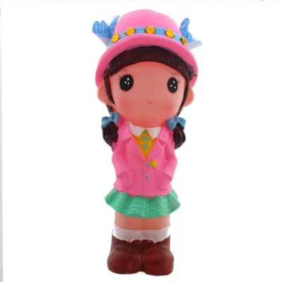 Tootpado Cute Doll Girl With Hat 1J220 Toy Piggy Coin Bank