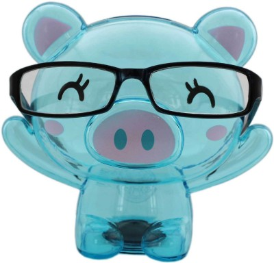 Tootpado Bear Shape Eye Glasses Stand With Transparent Money Savings Kiddy Toy Coin Bank