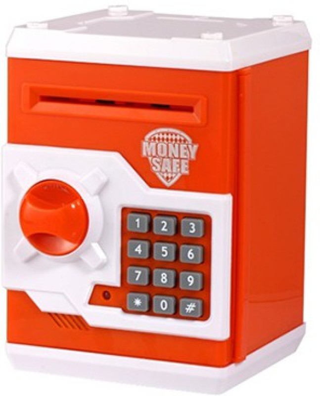 Gadget Bucket ATM Type Cum Box With Electronic Lock And Secret Code Coin Bank(Multicolor)