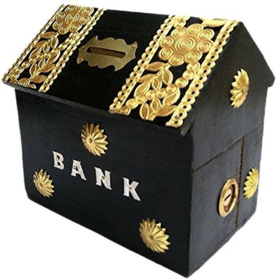 Asma Collection Woodkartindia Hut Design Coin Bank