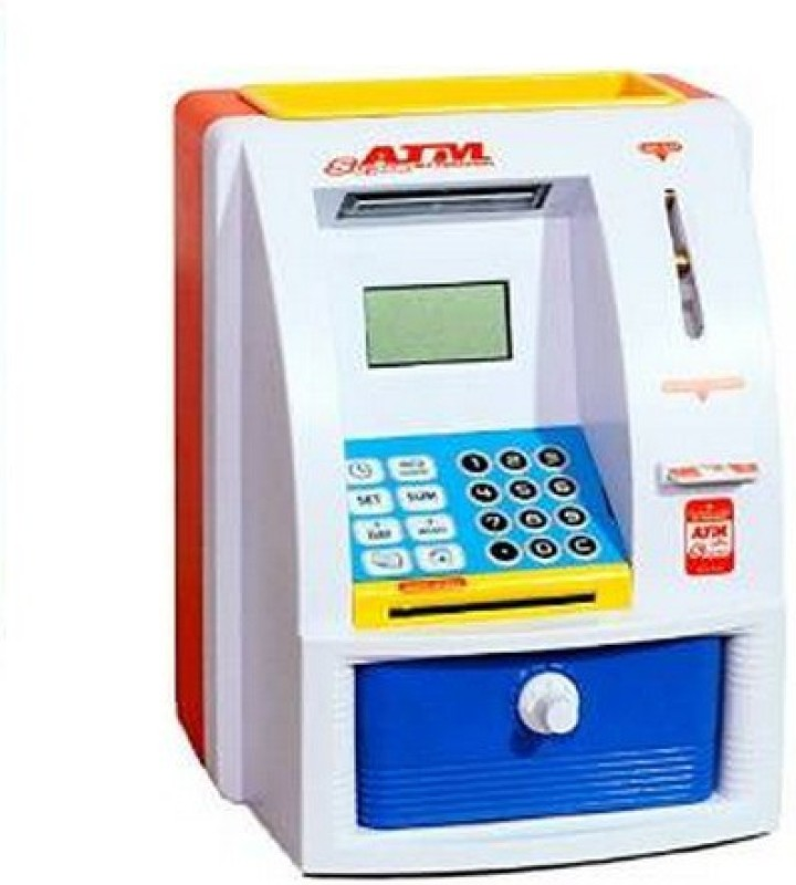 RREnterprizes ATM Money Safe Coin Bank(Blue)