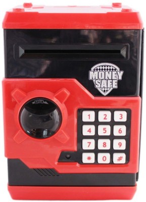 GME Money safe accepts banknotes red Coin Bank