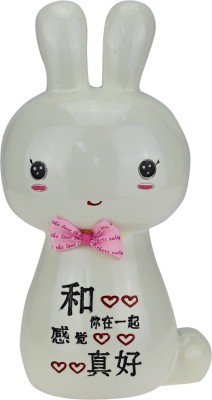 Kaos Bunny White Coin Bank
