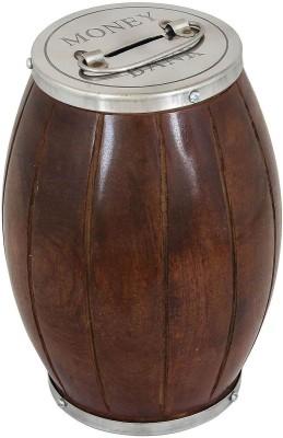 Woodpedlar Wooden Handicraft cylinder ShapedTredy Children Piggy Money Coin Bank