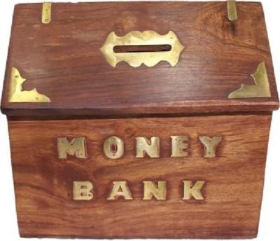 HanumantCreations Designer Wooden Money Bank Coin Bank