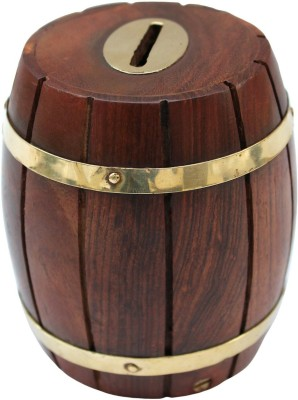limra handicrafts wooden dholak Coin Bank