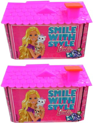 Barbie House Coin Bank Set of 2 Coin Bank(Multicolor)