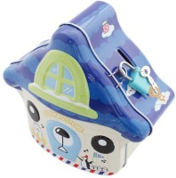Tootpado House Shaped Tin Piggy Bank for Kids - Cookies Store 1j324 - Hut Kiddy Money Toy Coin Bank(Blue) best price on Flipkart @ Rs. 275