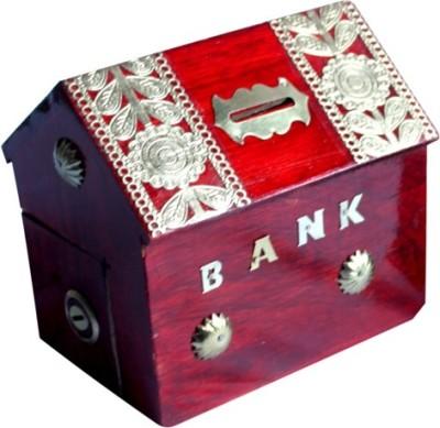 Meddy Craft Wooden Hut Piggy Bank MCL-400 Coin Bank