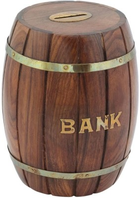 sparkle india wooden money Coin Bank