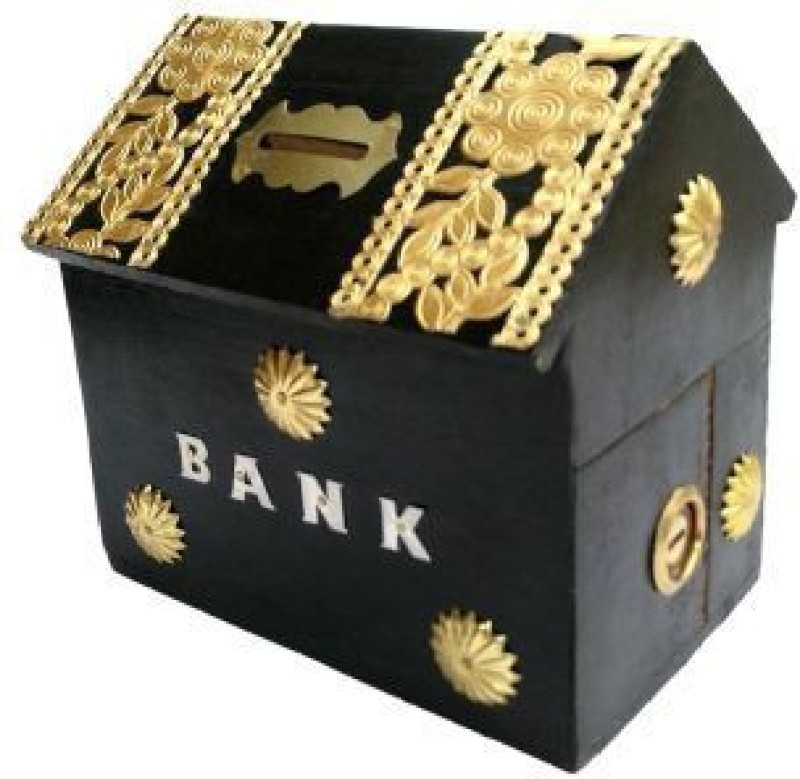 Alishba Money Bank Coin Bank(Black)