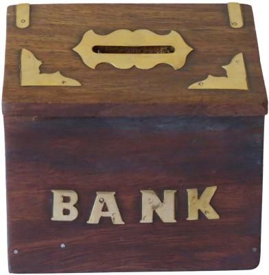 CE Wooden money Bank Coin Bank