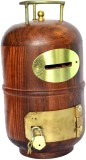 Woodino Gas Cylinder Coin Bank (Brown)