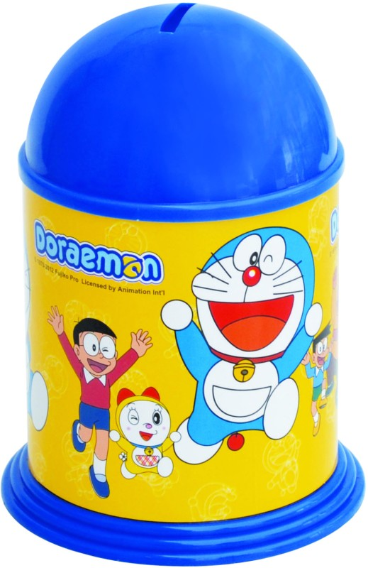 Buddyz Set of 2 - Doraemon Stickerized Coin Bank(Blue)