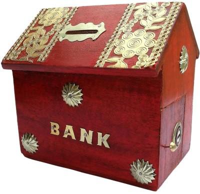 Craftatoz Hut Shape Money Coin Bank