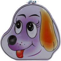 Tootpado Cute Dog Face Metal Piggy Kiddy Money Toy Bank for kids Coin Bank(Purple) best price on Flipkart @ Rs. 239