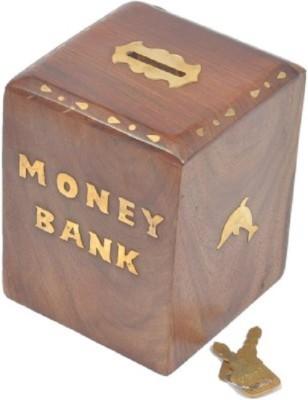 HanumantCreations Wooden Money Coin Bank