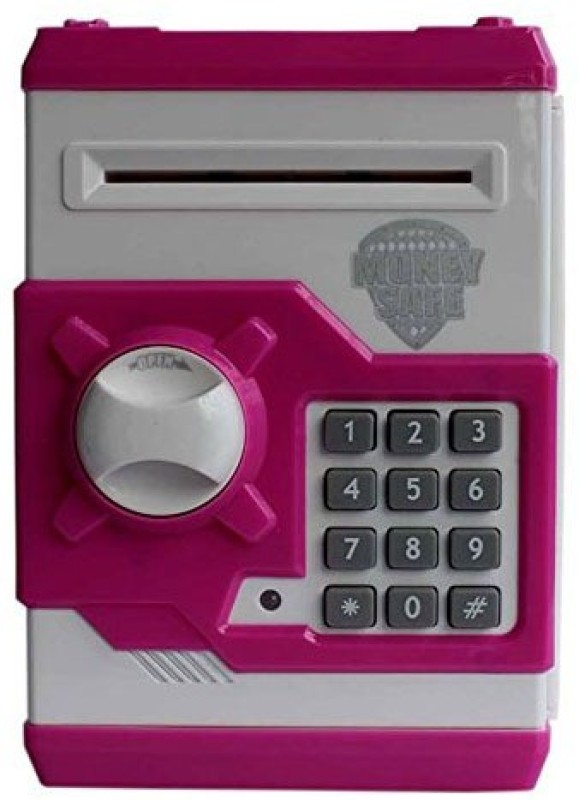 Suvesa Kids Safe Bank- Purple & White Coin Bank(Purple)