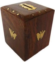 Pindia Money Box Kids Piggy Wooden Gift Item Home Decor Saving Office Antique Coin Bank best price on Flipkart @ Rs. 398