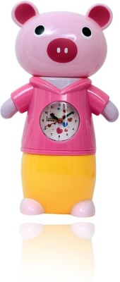 Planet of Toys Piggy Bank with Clock Coin Bank