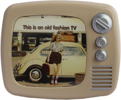 Tootpado Retro Style Tv With Photo Frame Piggy Kiddy Savings Money Cream Coin Bank