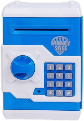Basetronix ATM Machine Money Safe Coin Bank(Blue)