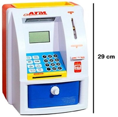 Leysha ATM money Bank electronic imported with ATM card Coin Bank