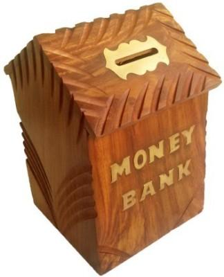 The Woods Hut Wooden Hut Shaped Money Bank Coin Bank